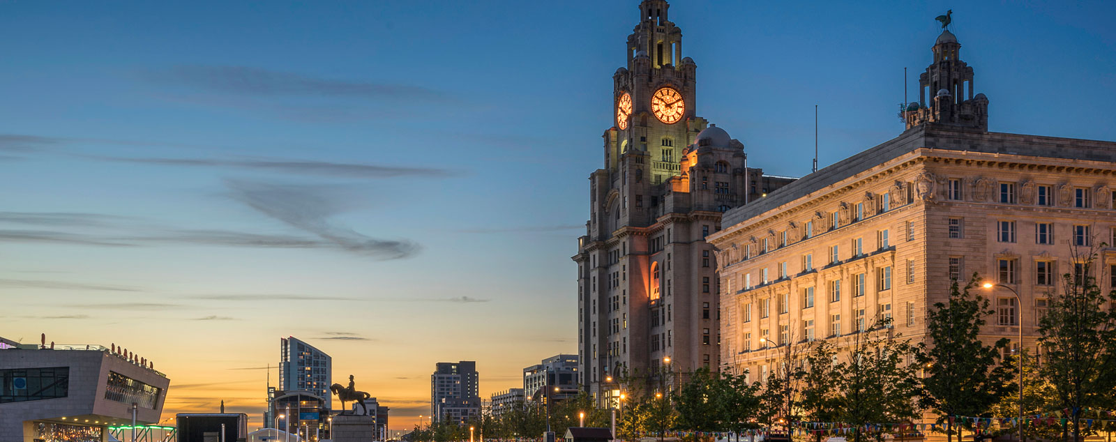 Liverpool's famous Bund, a grand waterfront street of buildings