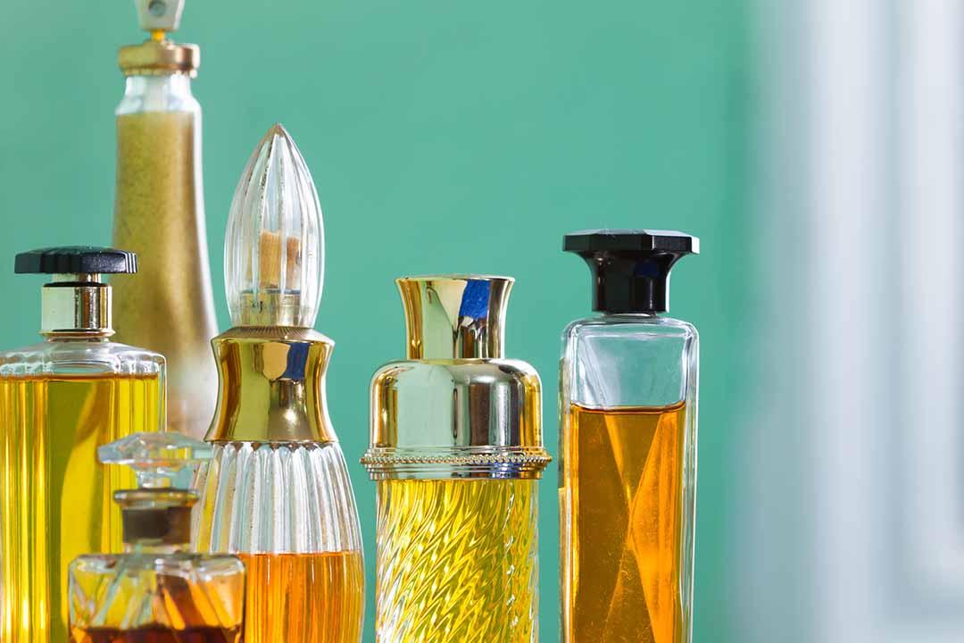 Assortment of perfumes.