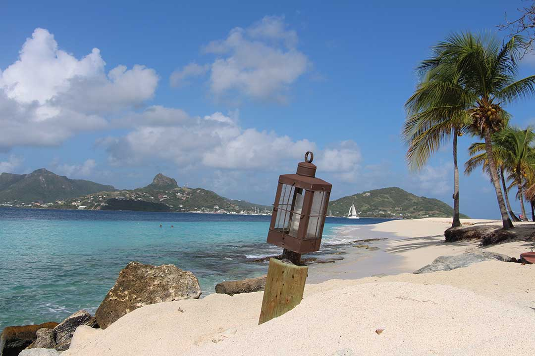 Caribbean Beach, St Vincent and the Grenadines.