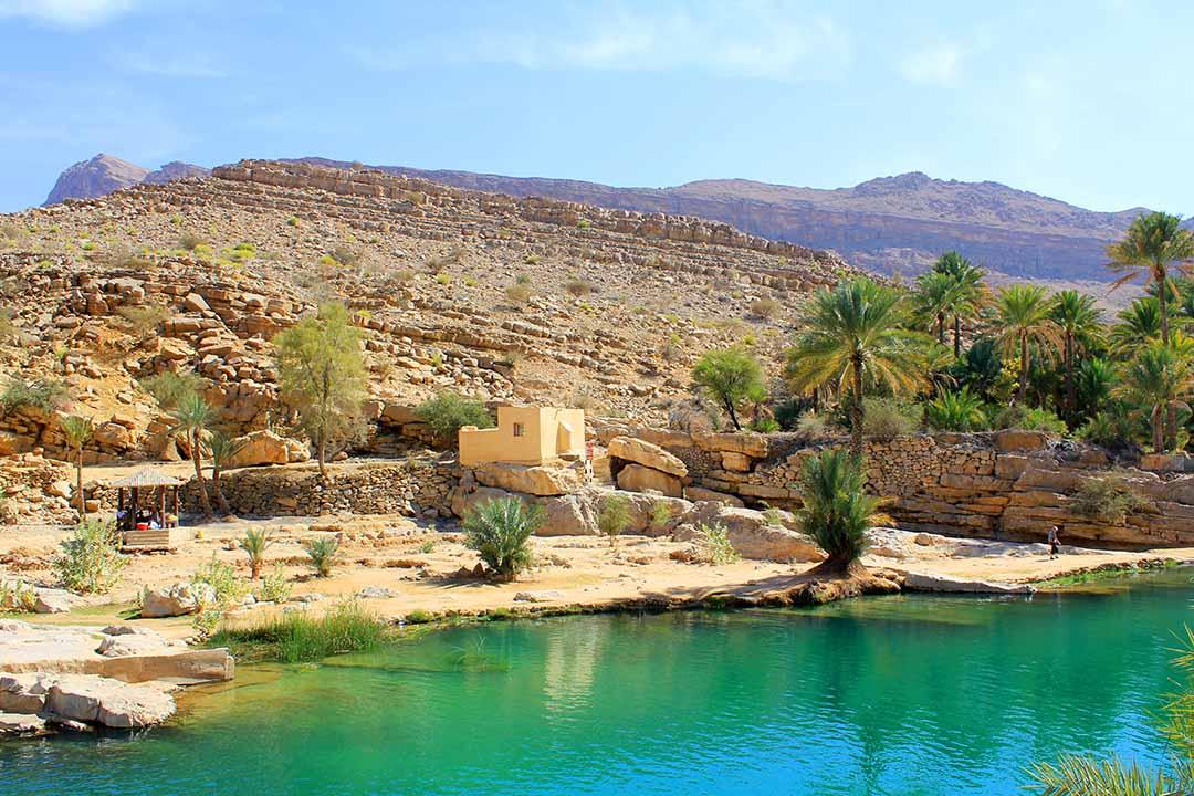 waterpool in Wadi Bani Khalid, Oman