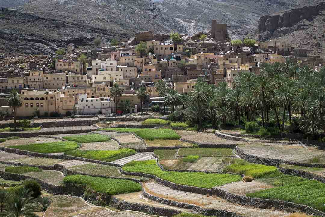 Village in the mountains of Oman