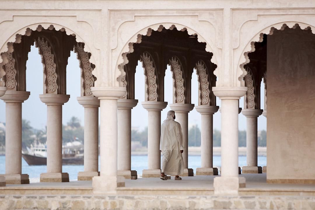 Omani man in Arabian archways