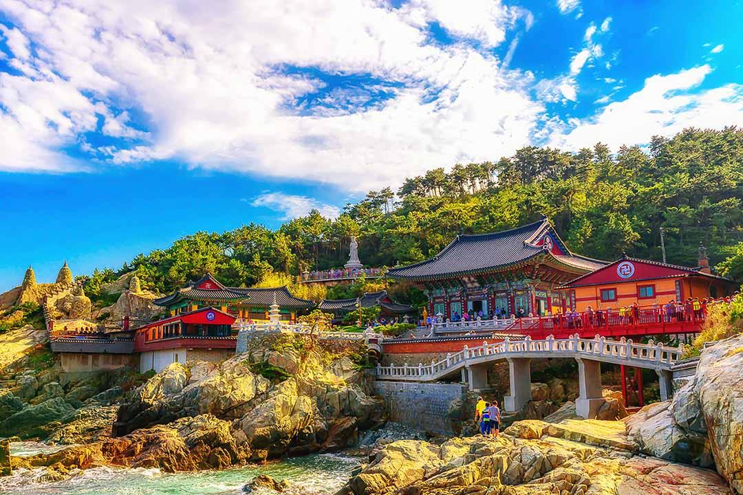 Temple on the coast in South Korea