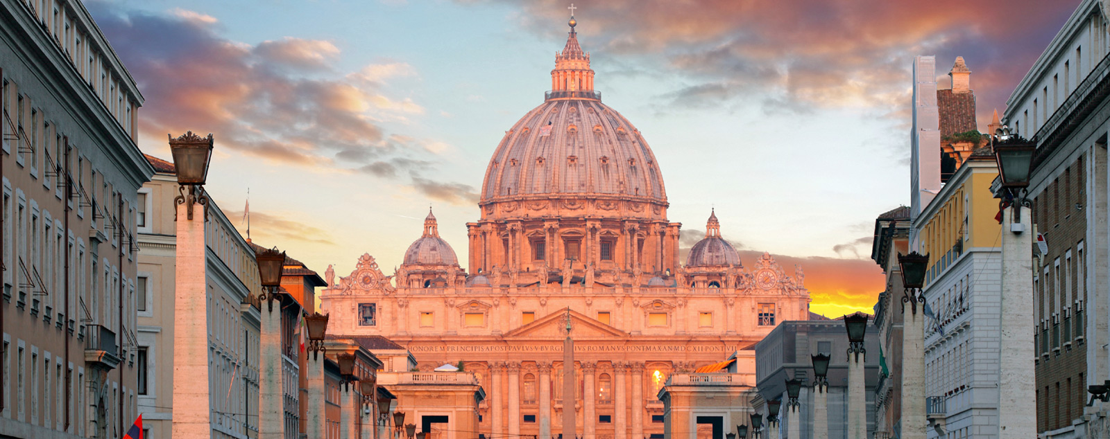 View of St Peter's Basilica in the Vatican