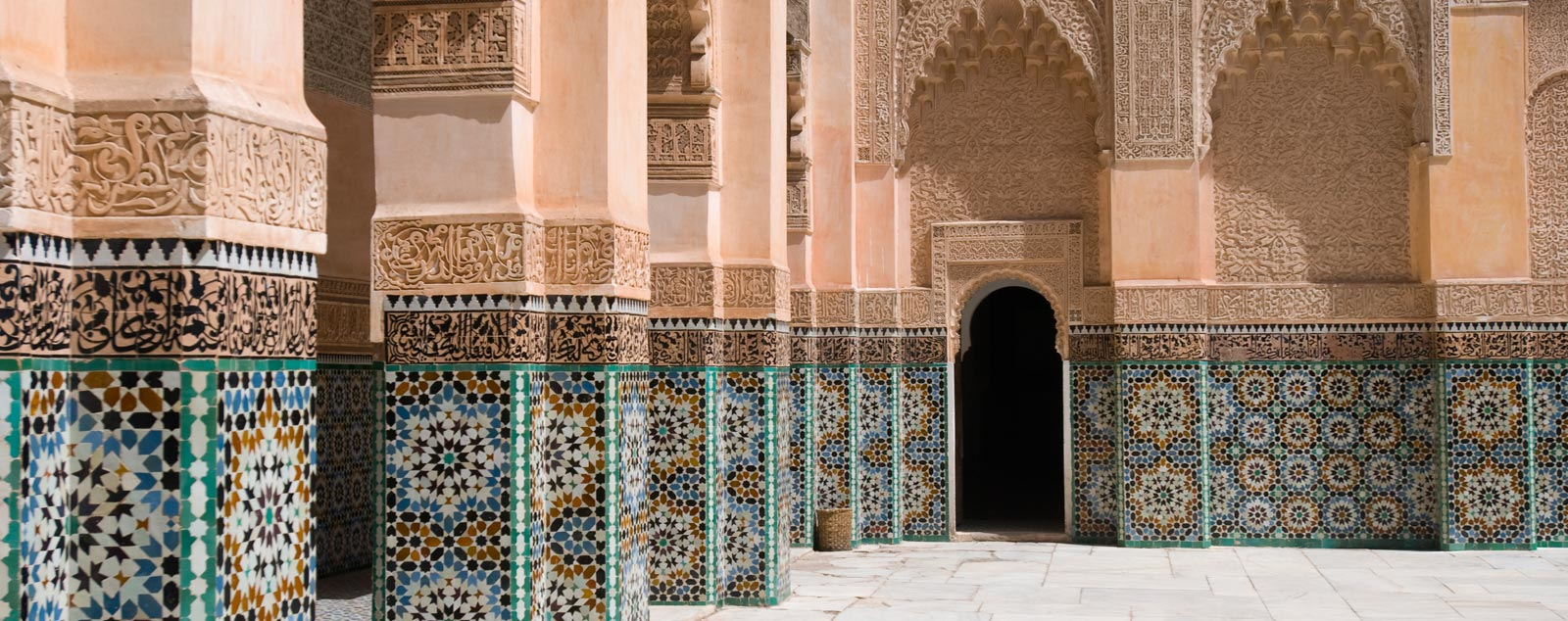 Moroccan tiles on archways
