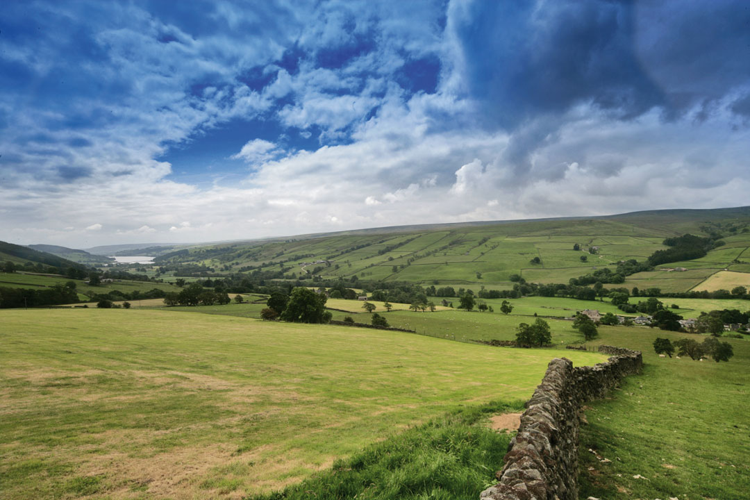 Landscape of the breathtaking lush Yorkshire countryside