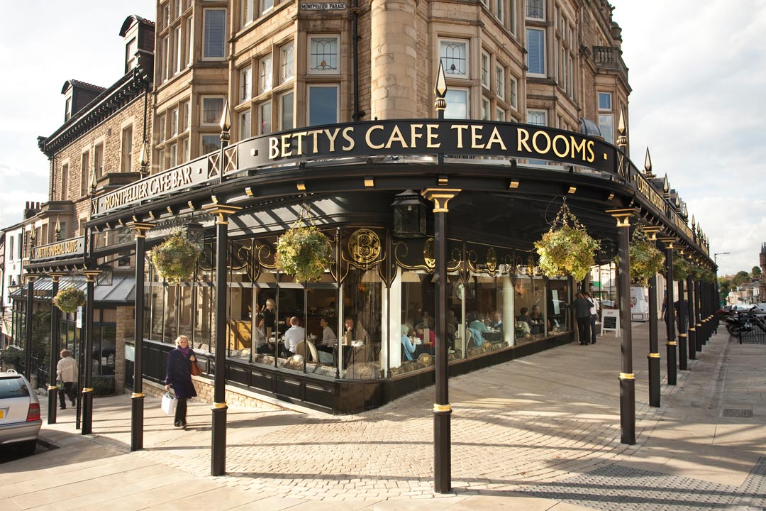 The exterior of the famous Betty's tearooms