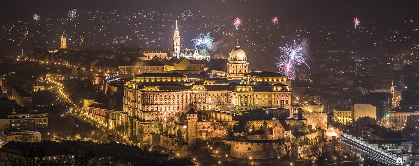New Year fireworks over Budapest