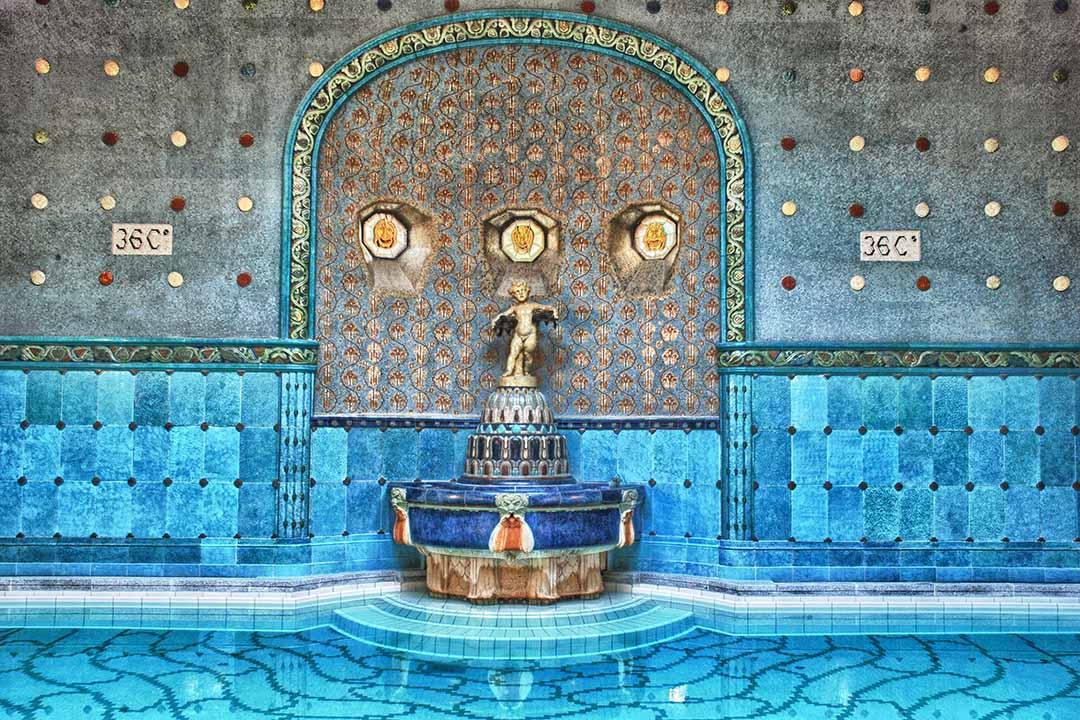 Beautiful interior in Budapest baths