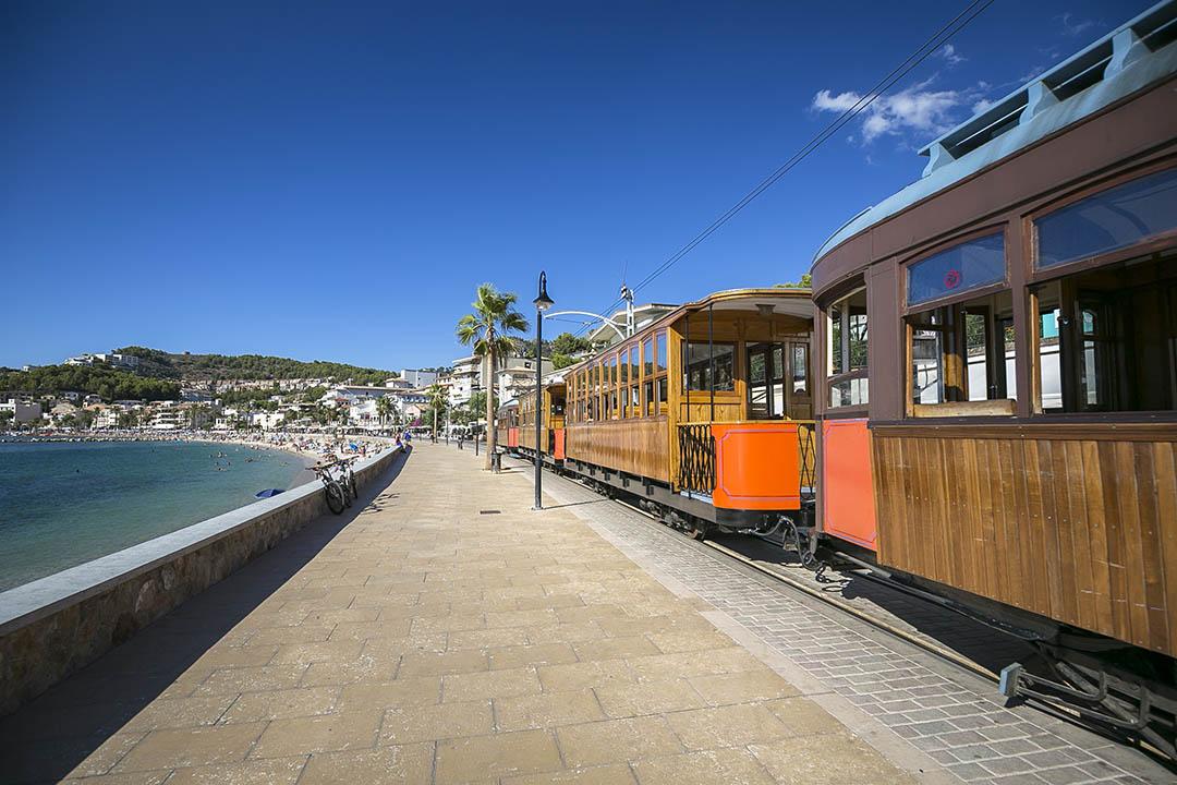 Tramway in Port De Soller, Mallorca