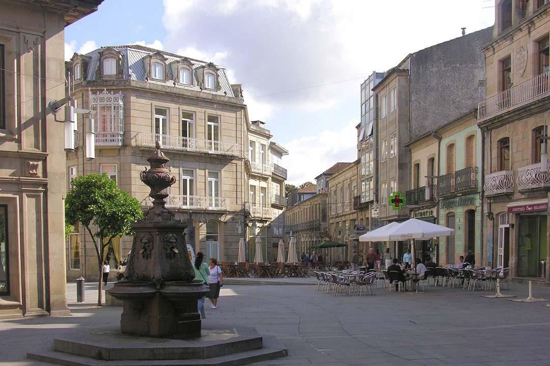 A quaint town square