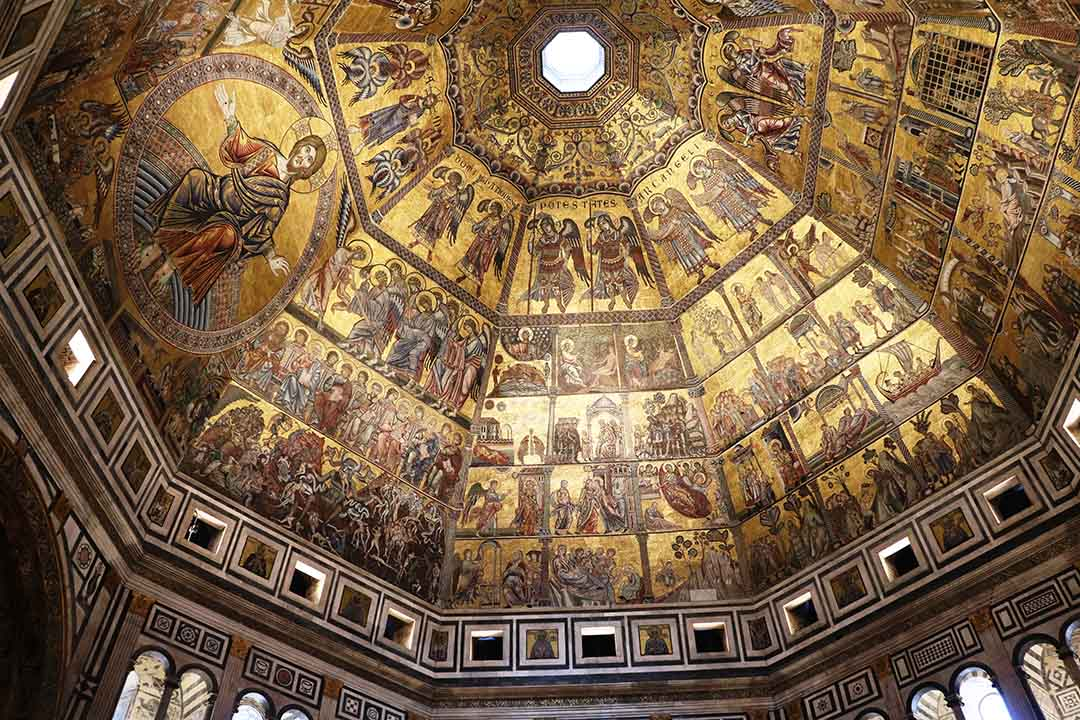 Dome of Baptistery San Giovanni, Florence Italy