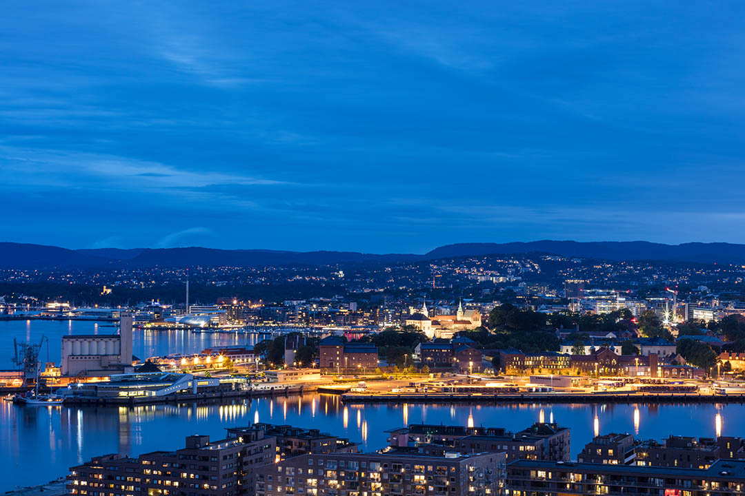 Oslo at night. Photo credits: VISITOSLO/NLE Film