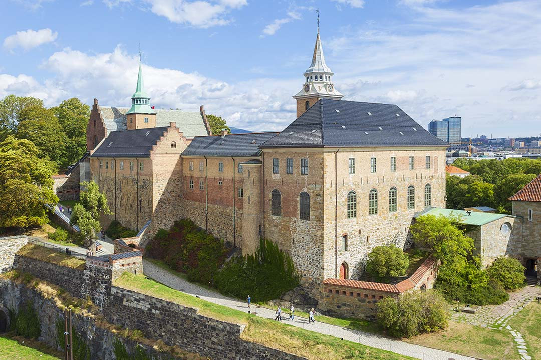 Akershus Castle on a bright day. Photo credits: VISITOSLO/Didrick Stenersen