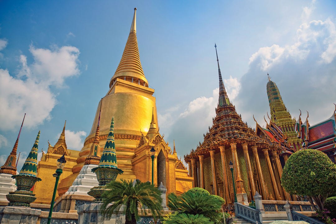 Golden temple in Thailand