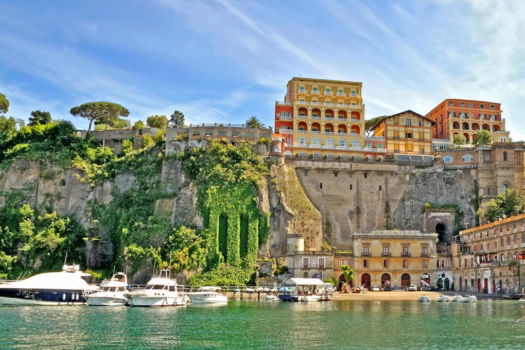 A view of Sorrento from the water