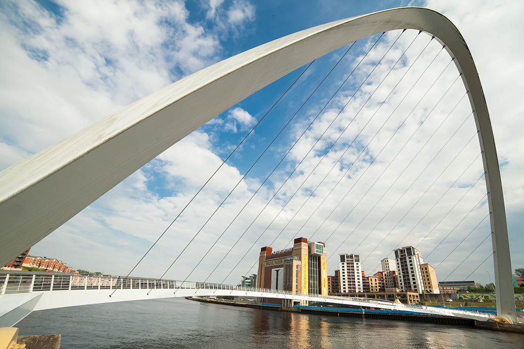 Gateshead Millennium Bridge: Image credit- NewcastleGateshead Initiative