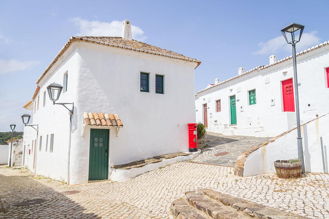 Houses in Pedralva village in Aljezur, Algarve, Portugal