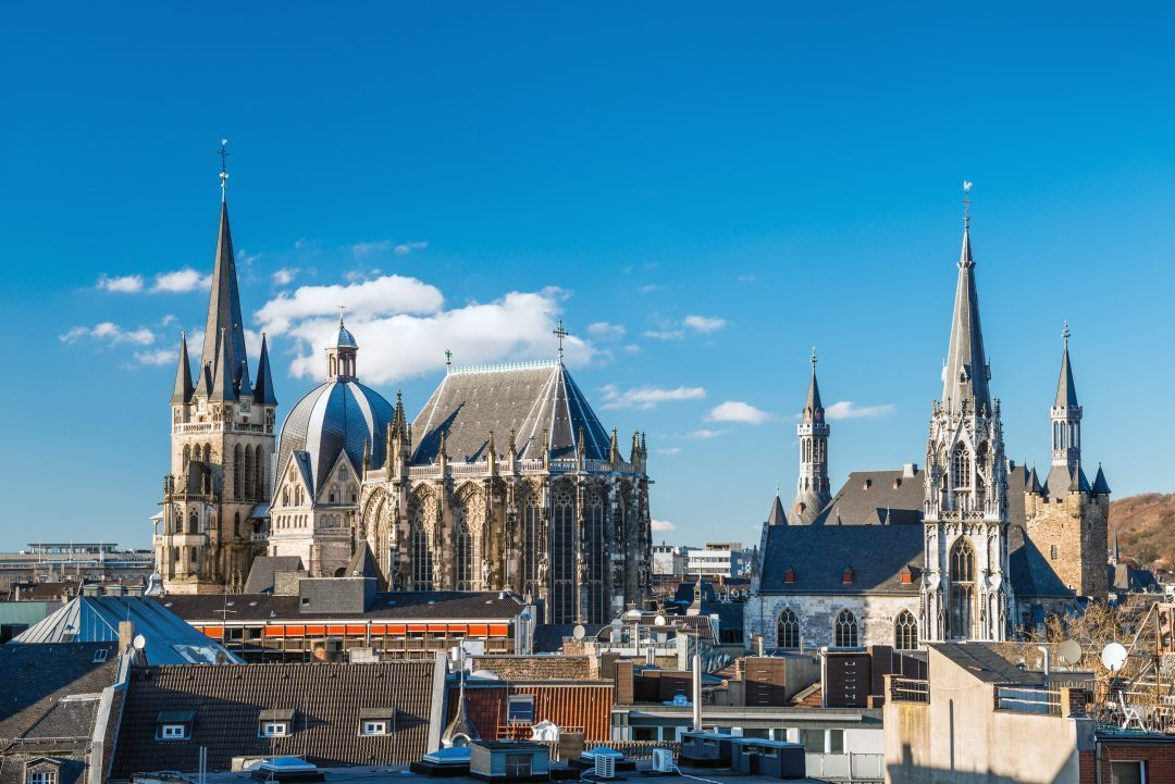 the city of Aachen. Most western town in Germany and home of Kaiser Karl, Charlemagne.
