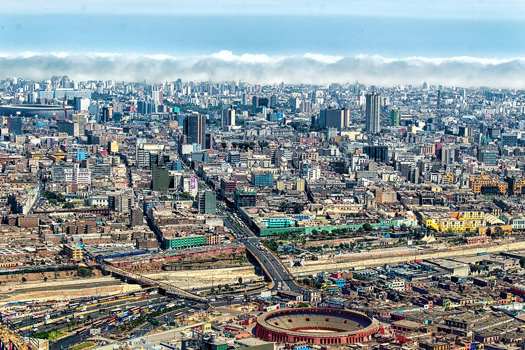 panoramic view of Lima city, Peru