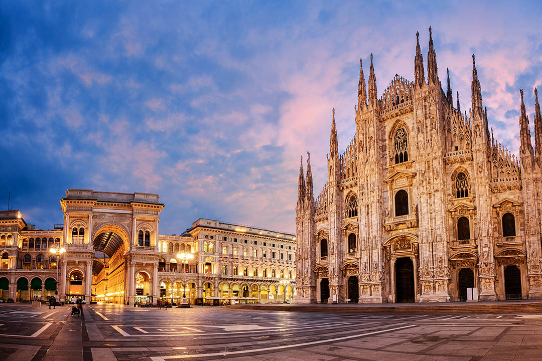 The Duomo Cathedral at sunrise