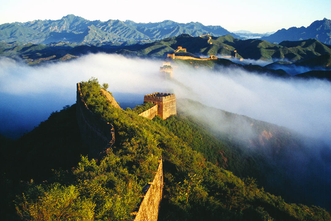 This section, Jin Shanling, is the most beautiful part of the whole Great Wall, which maintains its wild nature and with no artificial trace or marks. It shows what it was four hundred years ago.