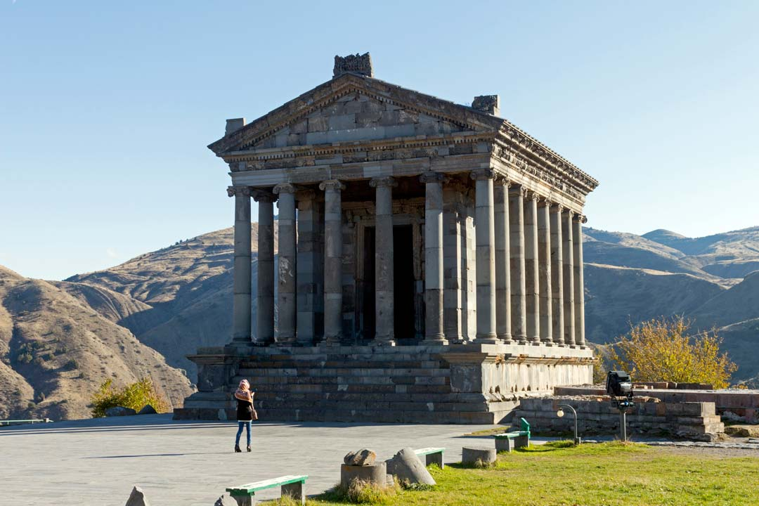 An impressive pillared temple in the Roman style