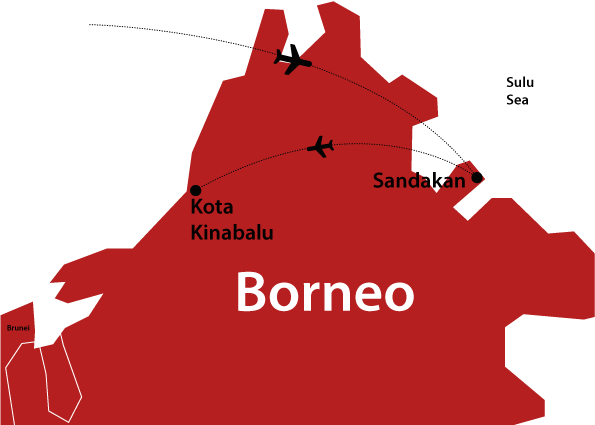 where is borneo on the map