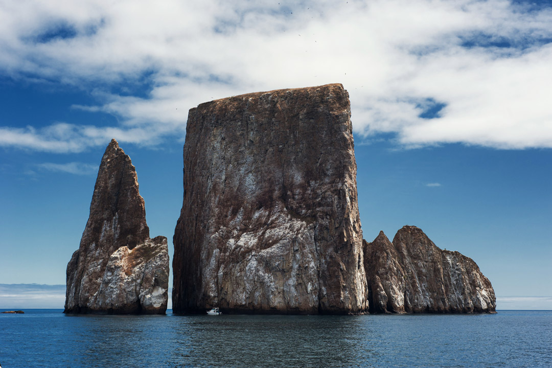 Kicker Rock - a famous rock in the Galapagos that juts out of the ocean