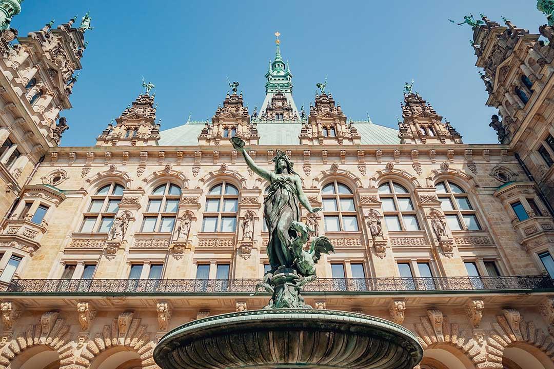 Hygieia fountain in Hamburg