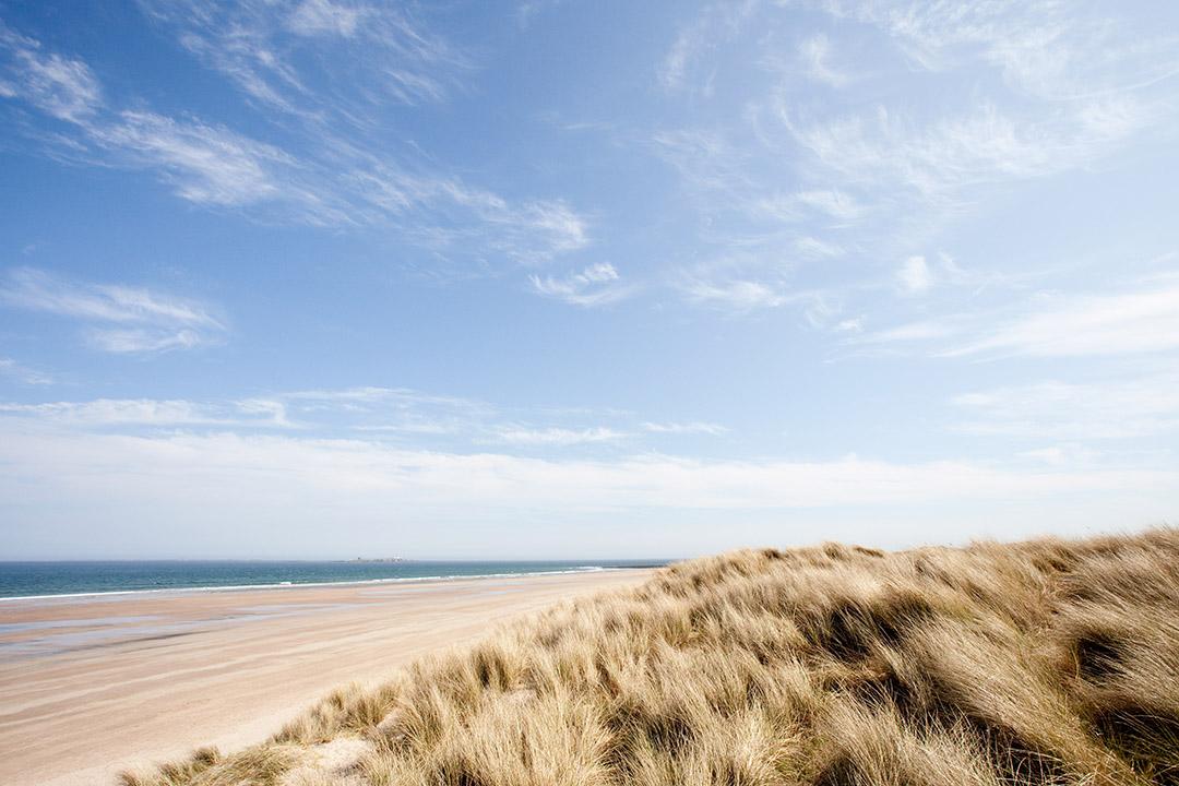 Beach at Bamburgh, Northumberland, UK