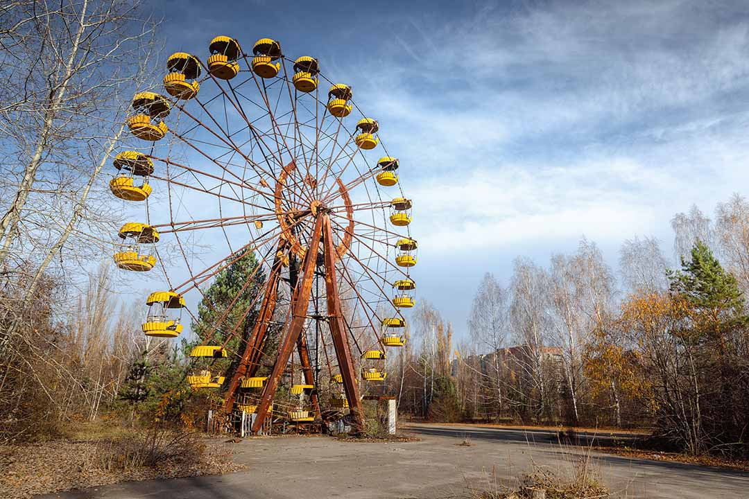 The infamous ferris wheel of Pripyat ghost town
