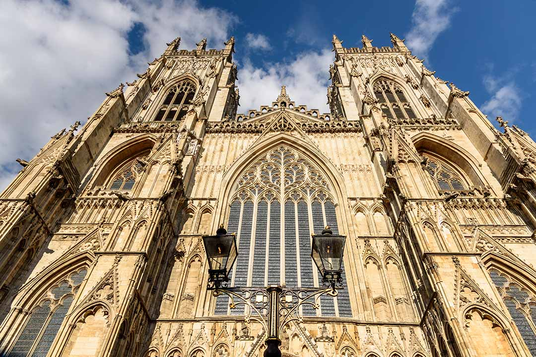 The grand exterior of York Minster Cathedral
